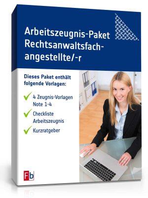 Arbeitszeugnis-Paket Rechtsanwaltsfachangestellte/-r