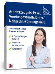 Arbeitszeugnis-Paket Vereinsgeschäftsführer / Nonprofit-Führungskraft