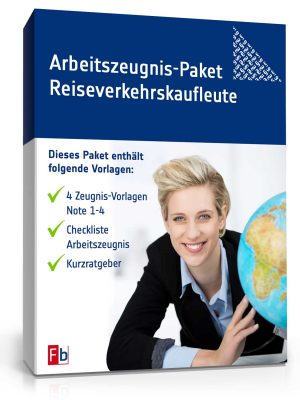 Arbeitszeugnis-Paket Reiseverkehrskaufleute