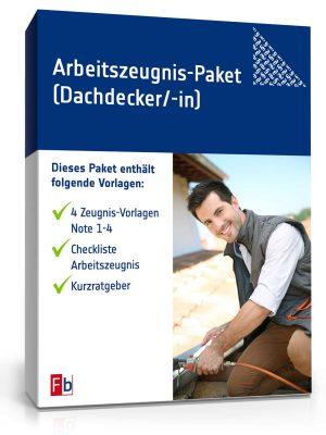 Arbeitszeugnis-Paket Dachdecker/-in