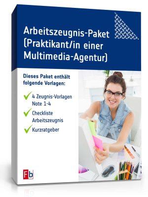 Praktikumszeugnis-Paket Praktikant/-in einer Multimedia-Agentur