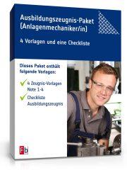 Ausbildungszeugnis-Paket Anlagenmechaniker/in