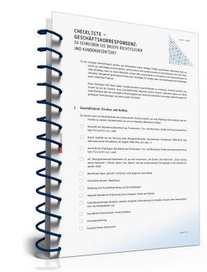 Checkliste Geschäftskorrespondenz