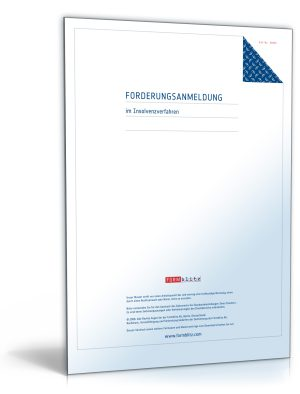 Anmeldung einer Forderung im Insolvenzverfahren