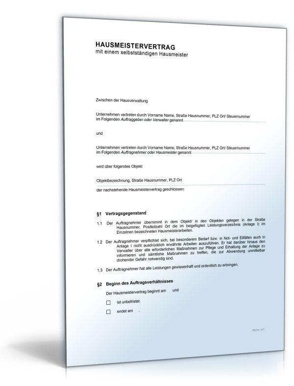 Hausmeistervertrag 1