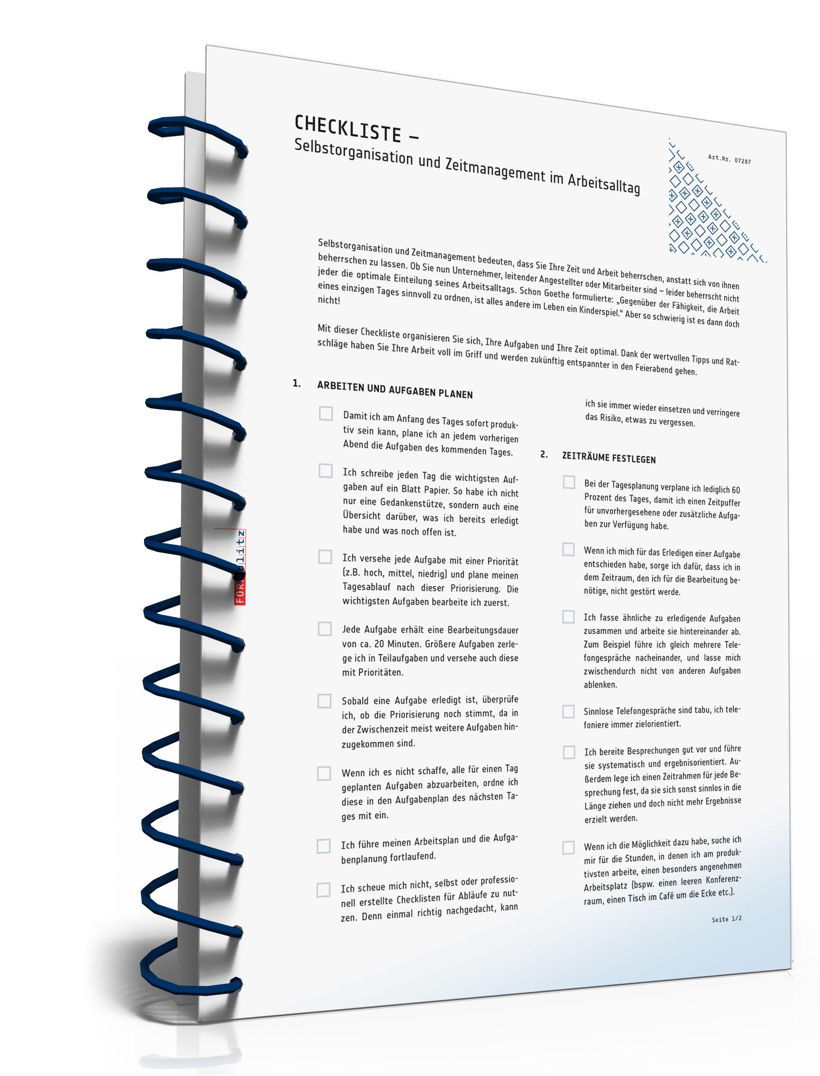Selbstorganisation und Zeitmanagement für Ihren Arbeitsalltag