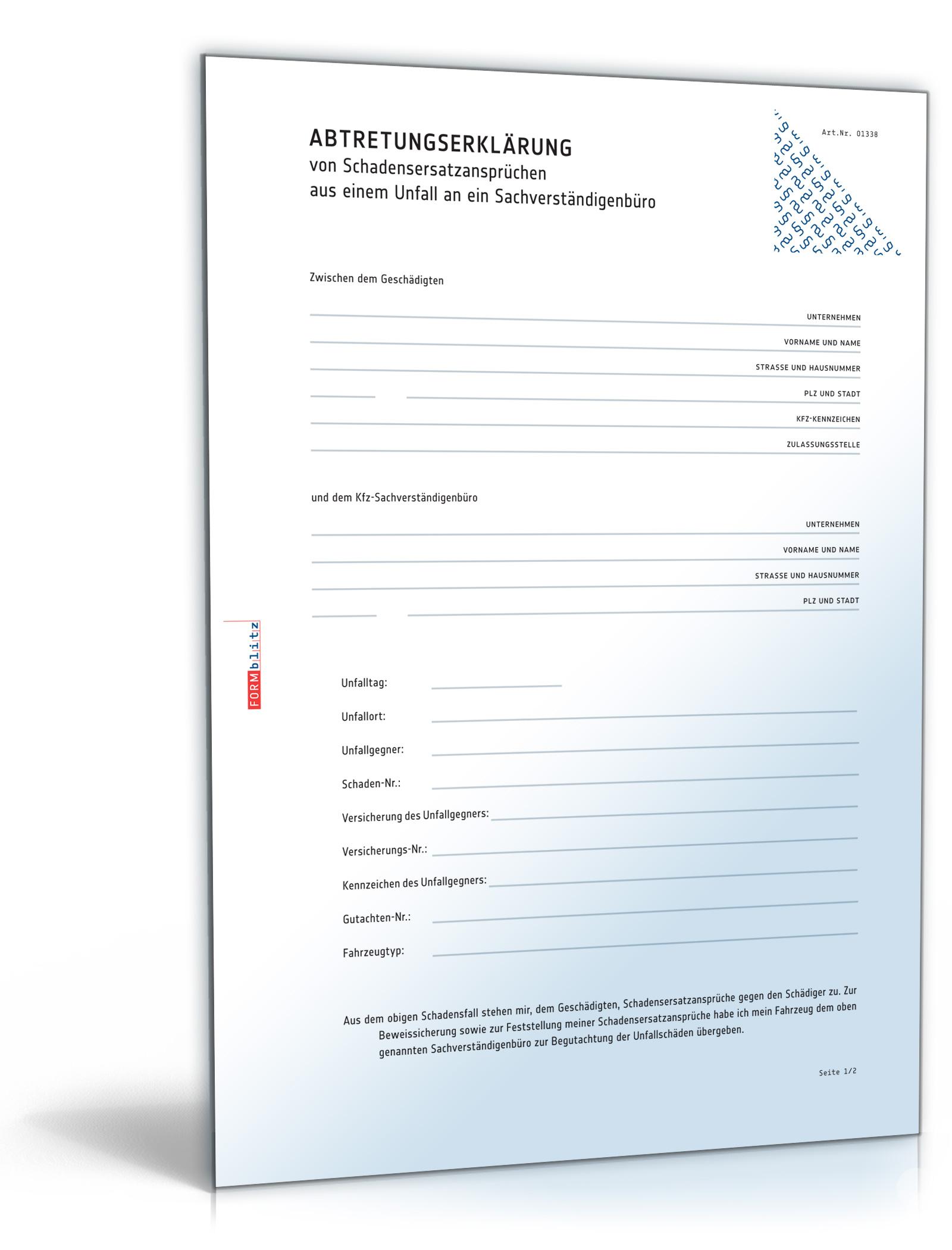 abtretung einer lebensversicherung formular