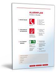 """Schild """"Notfall- und Alarmplan"""""""