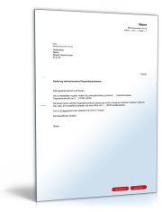 Antrag auf Senkung eines Dispositionskredits (Dispo-Kredit)