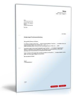 Anzeige eines Wohnungsvermittlers bzw. Maklers wegen Provisionserschleichung