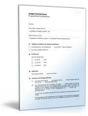 Arbeitsvertrag für gewerbliche Arbeitnehmer