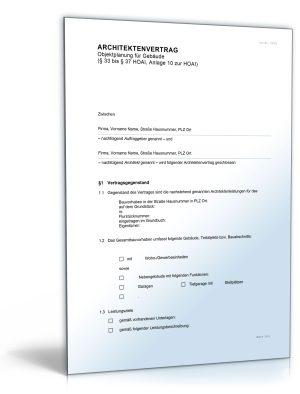 Architektenvertrag (nach HOAI)