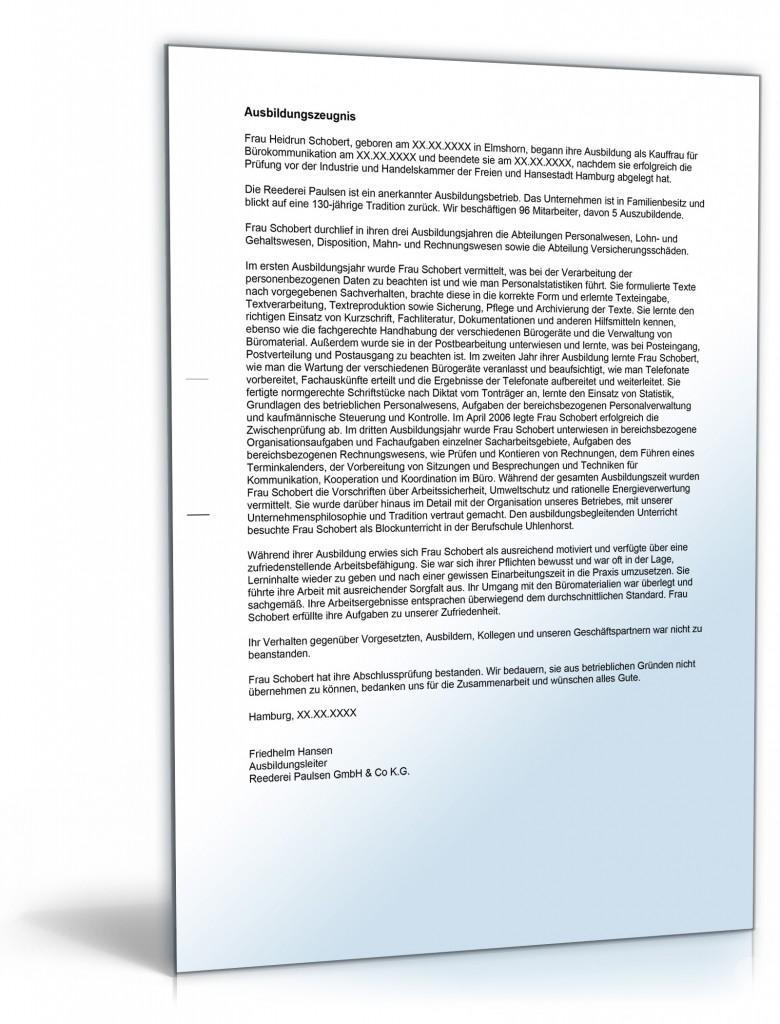 Bewerbung Kauffrau Für Bürokommunikation