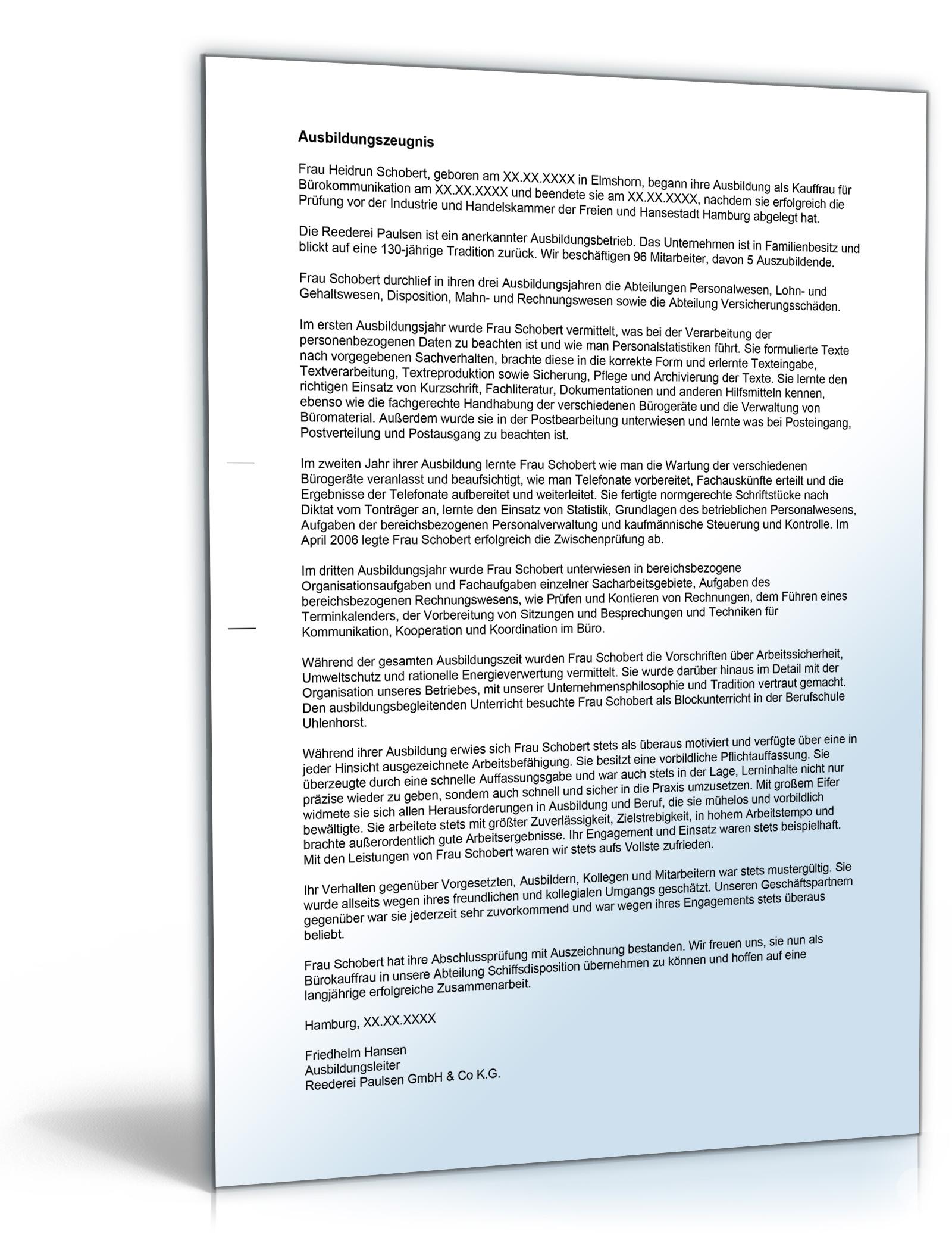 Ausbildungsordnung Kauffrau Für Bürokommunikation