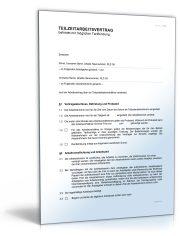 Teilzeitarbeitsvertrag (befristet mit möglicher Tarifbindung)
