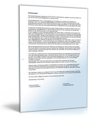 """Arbeitszeugnis """"befriedigend"""" (Vereinsgeschäftsführer / Nonprofit-Führungskraft)"""