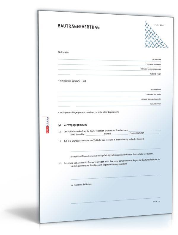 Bauträgervertrag 1