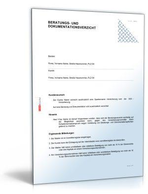 Beratungs- und Dokumentationsverzicht bei Versicherungsvermittlung