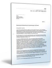 Anschreiben Bewerbung (Versicherungskaufmann/-frau)