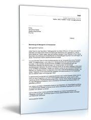 Anschreiben Bewerbung (Management, Finanzwesen)