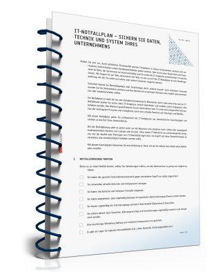 IT-Notfallplan: Sichern Sie Daten, Technik und System Ihres Unternehmens
