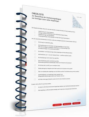 Checkliste zur Anerkennungsfähigkeit von Verträgen unter Angehörigen