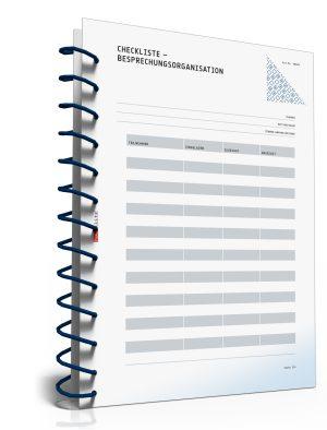 Checkliste: Besprechungsorganisation