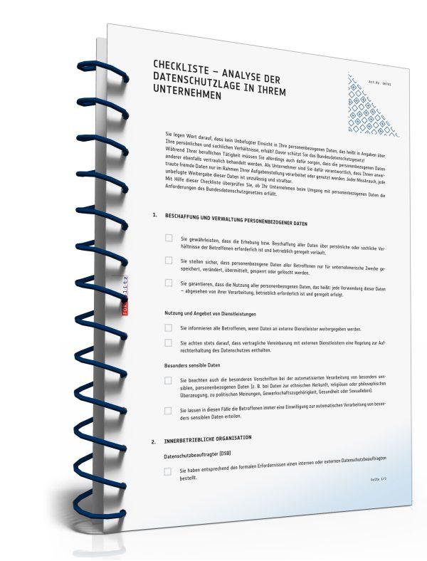 Checkliste zur Analyse der Datenschutzlage in Ihrem Unternehmen 1