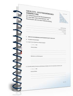 Checkliste Existenzgründungsvorbereitung