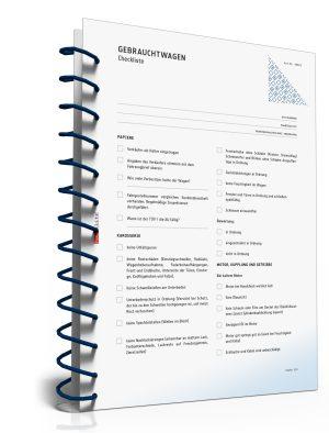 Checkliste für den Gebrauchtwagenkauf