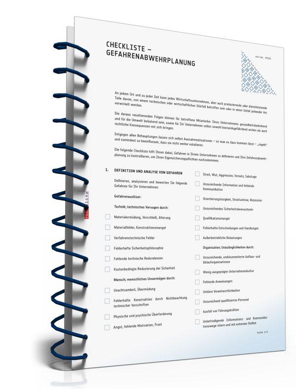 Checkliste – Gefahrenabwehrplanung 1