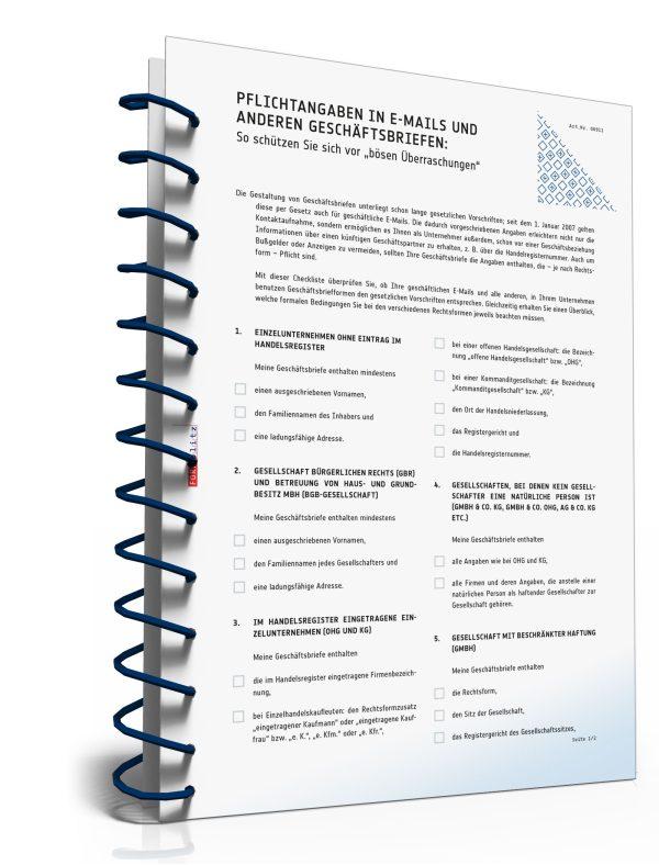 Pflichtangaben in E-Mails und anderen Geschäftsbriefen 1