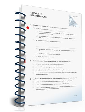 Checkliste Mietminderung