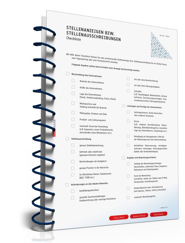 Checkliste Stellenausschreibung 1