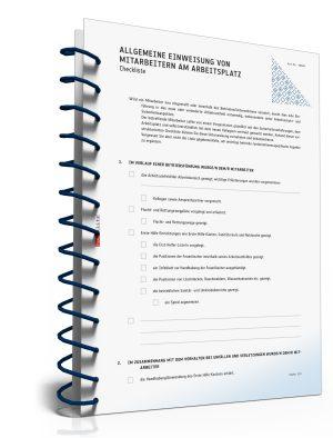 Checkliste: Allgemeine Unterweisung von Mitarbeitern