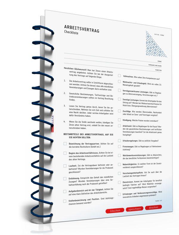Checkliste Arbeitsvertrag 1