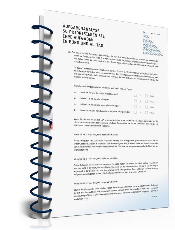 Aufgabenanalyse: So priorisieren Sie Ihre Aufgaben in Büro und Alltag 1