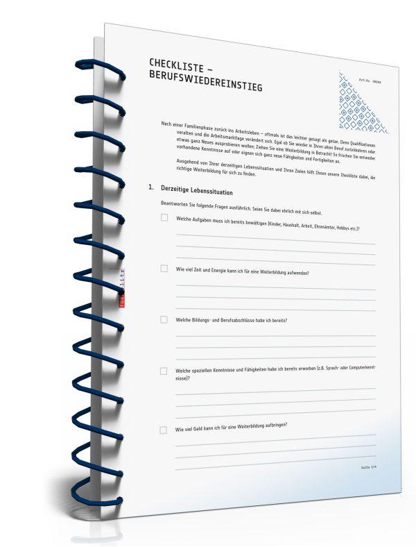 Checkliste Berufswiedereinstieg 1