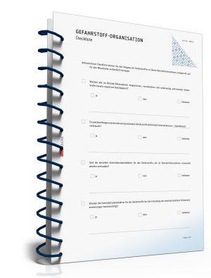 Checkliste: Gefahrstoff-Organisation in Betrieben und Unternehmen