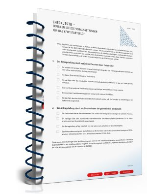 Checkliste KfW-StartGeld