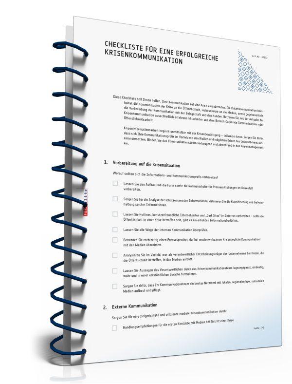 Checkliste für eine erfolgreiche Krisenkommunikation 1