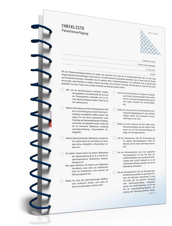 Checkliste Patientenverfügung 1