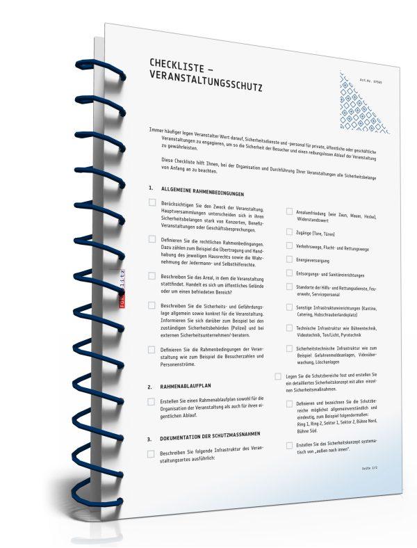 Checkliste Veranstaltungsschutz 1