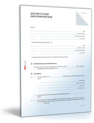 Geschäftlicher Darlehensvertrag