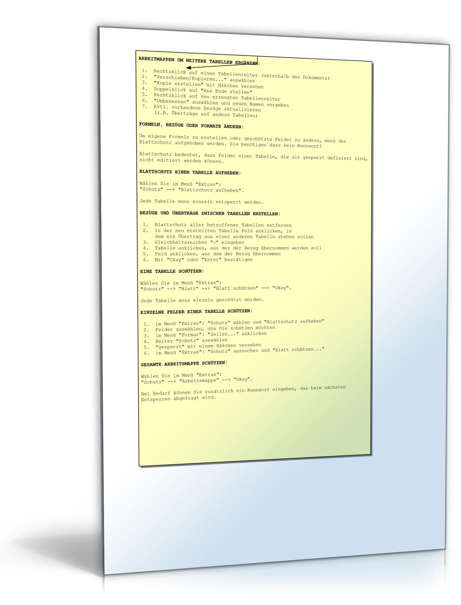 7 verschiedene Rechnungsvorlagen als Excel-Tabelle