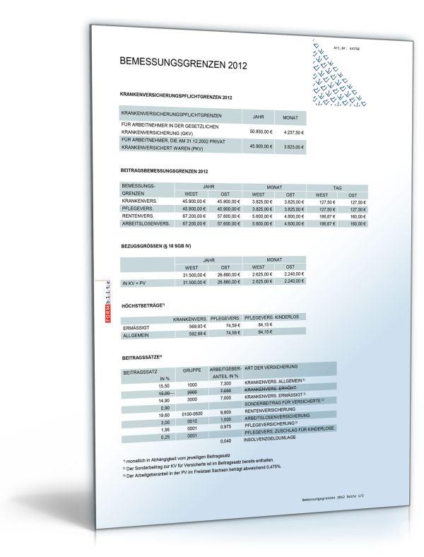 FORMBLITZ-Tabelle 2010/2012 – Sammlung diverser Pauschalsätze 1