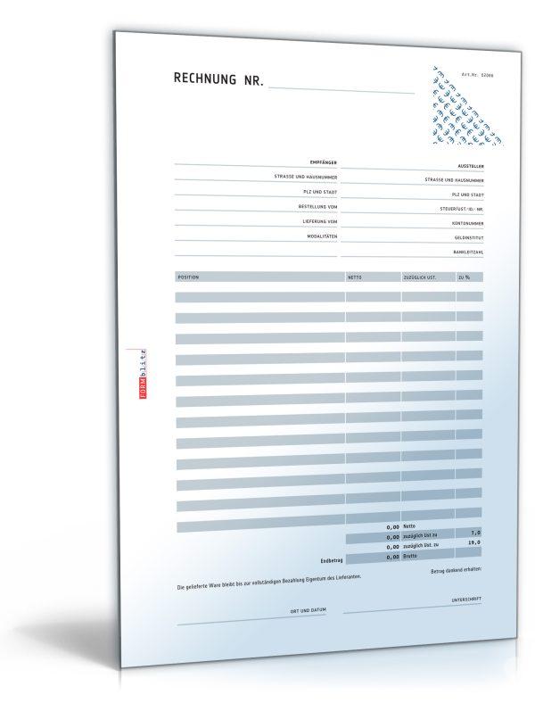 Rechnung netto mit Überweisungsträger / Zahlschein 1