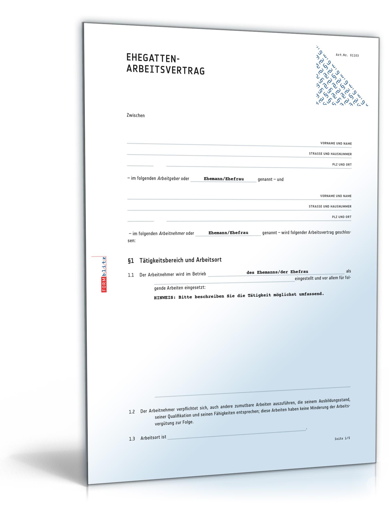 ehegatten arbeitsvertrag - Kundigungsbestatigung Muster