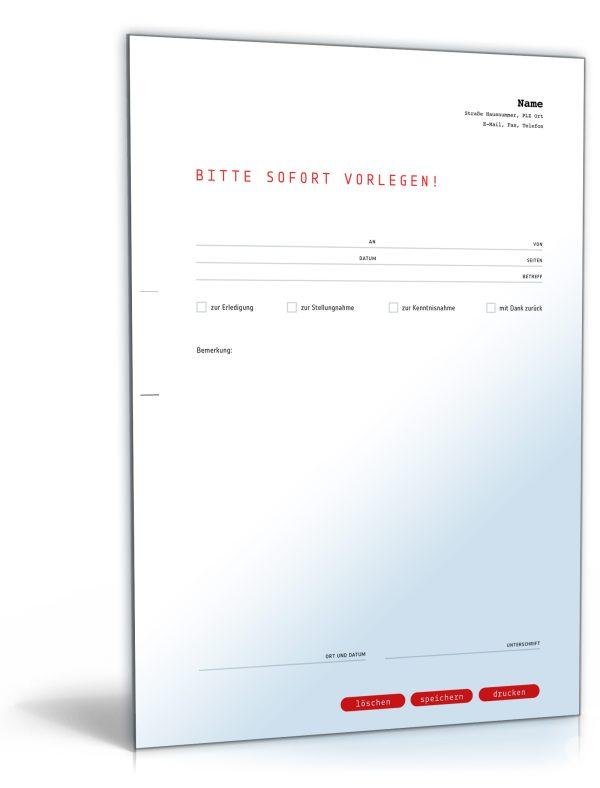 Faxvorlage (dringend) 1