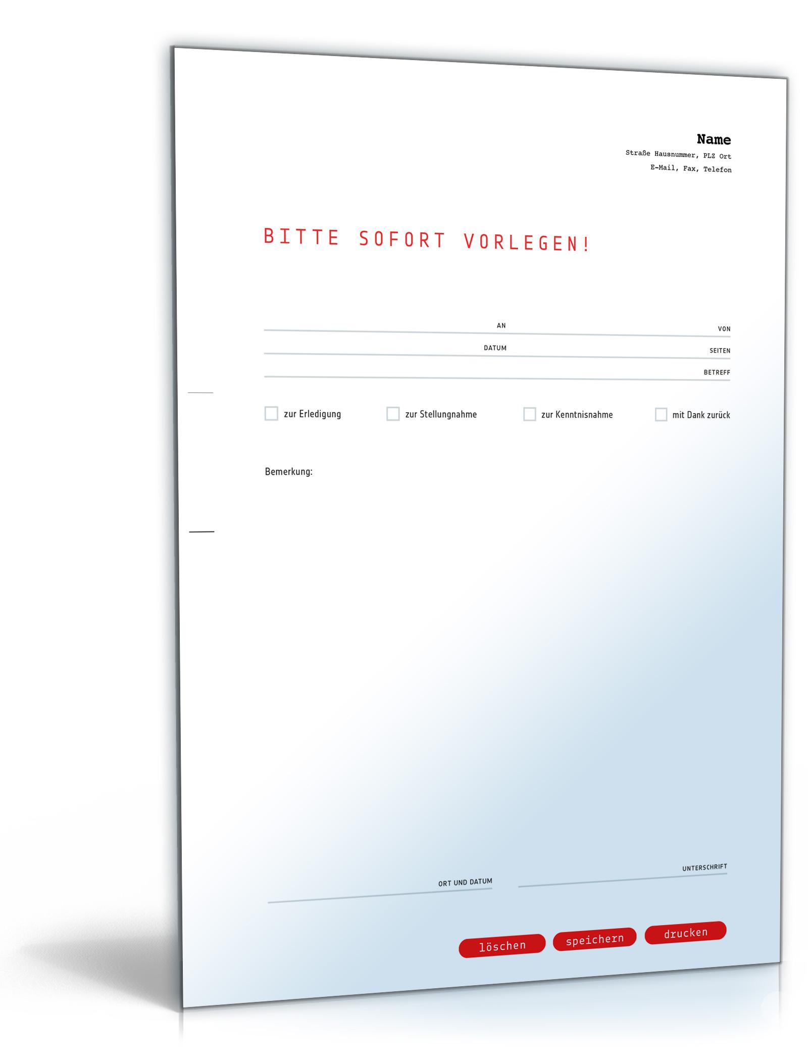 Faxvorlage (dringend)